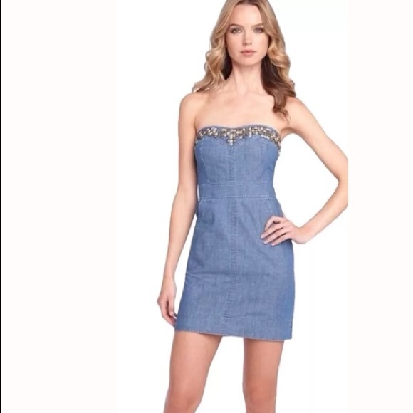870c585e74b Free People Dresses   Skirts - We The Free By Free People Studded Denim  Dress
